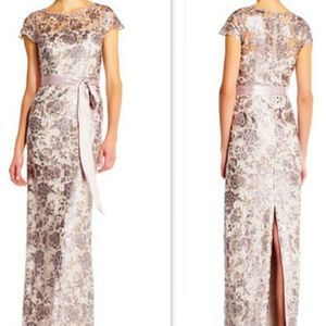 Adrianna Papell | Sequin Lace Column Dress